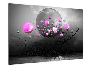 Tablou cu bile roz  (V020105V9060)