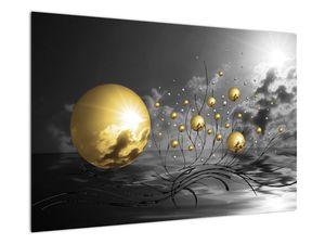 Okker gömbök képe (V020109V9060)