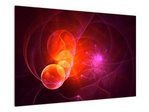 Moderní obraz růžové abstrakce (V020129V9060)