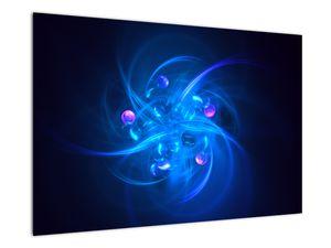 Moderní obraz modré abstrakce (V020137V9060)