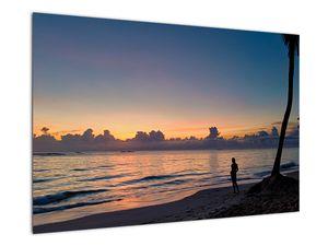 Kép egy nőről a tengerparton (V020204V9060)