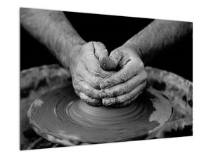 Černobílý obraz - výroba keramiky (V020349V9060)