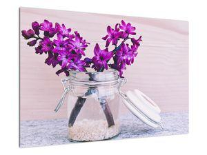 Obraz fialových květin (V020367V9060)