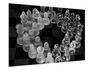Obraz - černobílé šachy (V020598V9060)