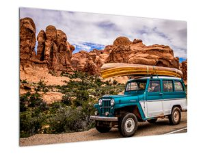 Obraz terenního auta v horách (V020603V9060)