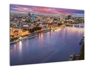 Obraz nočného mesta Bratislavy s riekou (V020706V9060)