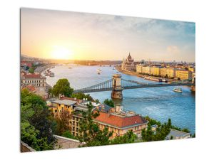 Obraz města Budapešť s řekou (V020712V9060)