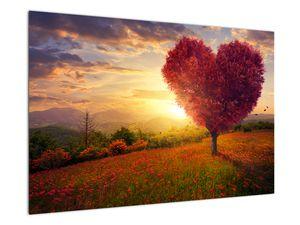 Obraz stromu v tvare srdca (V020949V9060)