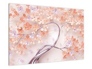 Obraz korálových květů stromu - abstrakt (V021301V9060)