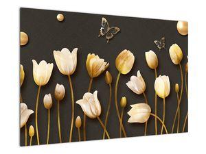 Obraz - Tulipány - abstraktné (V021347V9060)