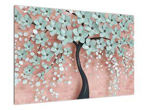 Obraz - Pastelovo modré kvety (V021459V9060)
