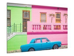 Obraz auta - barevné domy (V021582V9060)