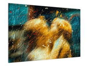Obraz - Bozkávajúci sa anjeli (V021614V9060)