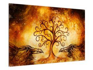 Naravna abstraktna slika drevesa (V022111V9060)