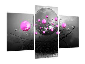 Tablou cu bile roz  (V020105V90603PCS)