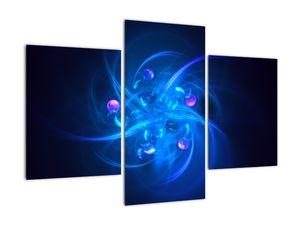Moderní obraz modré abstrakce (V020137V90603PCS)