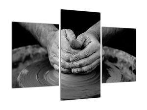 Černobílý obraz - výroba keramiky (V020349V90603PCS)