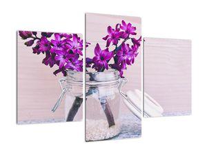 Obraz fialových květin (V020367V90603PCS)