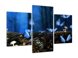 Obraz modrých motýlů (V020434V90603PCS)