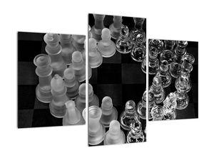 Obraz - černobílé šachy (V020598V90603PCS)
