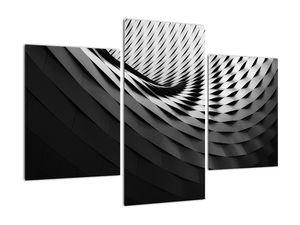 Abstraktní obraz - černobílá spirála (V020667V90603PCS)