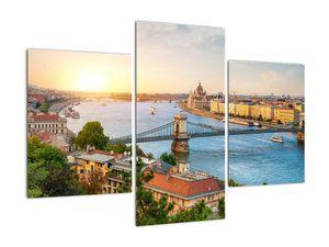 Obraz města Budapešť s řekou (V020712V90603PCS)