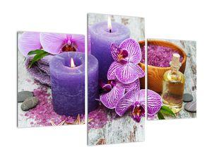 Obraz orchideí a svíček (V020894V90603PCS)