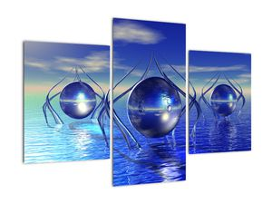 Obraz abstrakce - voda (V021284V90603PCS)