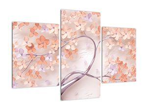 Obraz korálových květů stromu - abstrakt (V021301V90603PCS)