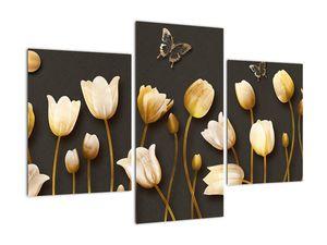 Obraz - Tulipány - abstraktné (V021347V90603PCS)