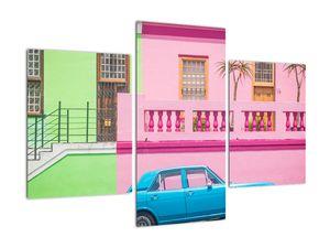 Obraz auta - barevné domy (V021582V90603PCS)