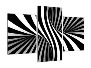 Absztrakt kép zebra csíkokkal (V021960V90603PCS)