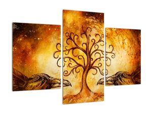 Naravna abstraktna slika drevesa (V022111V90603PCS)