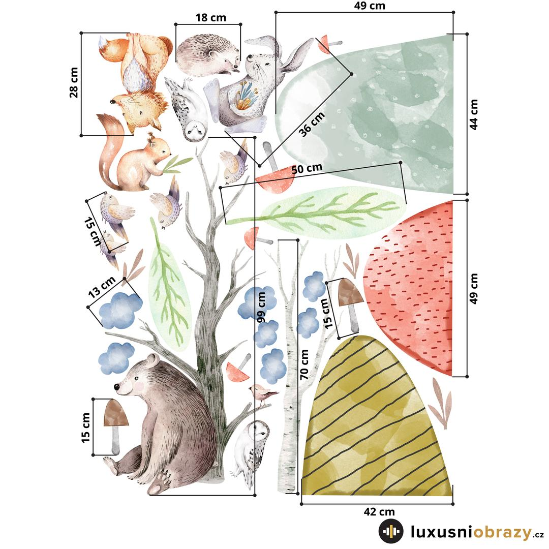 Samolepky na zeď – Lesní zvířátka (L080004)