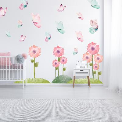 Samolepky na stenu - Motýlia lúka (L080006)