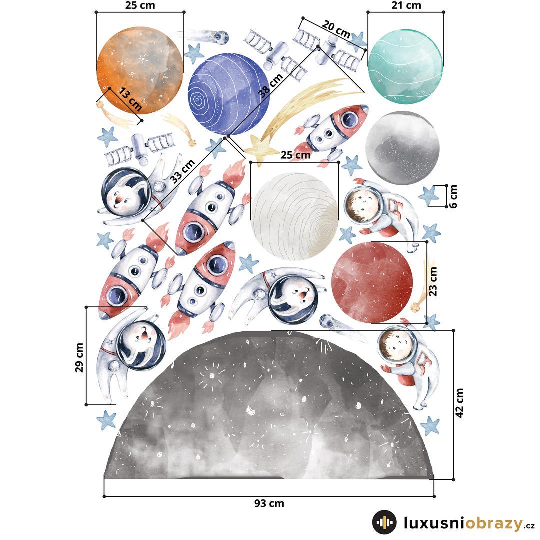 Samolepky na zeď – Vesmír (L080007)