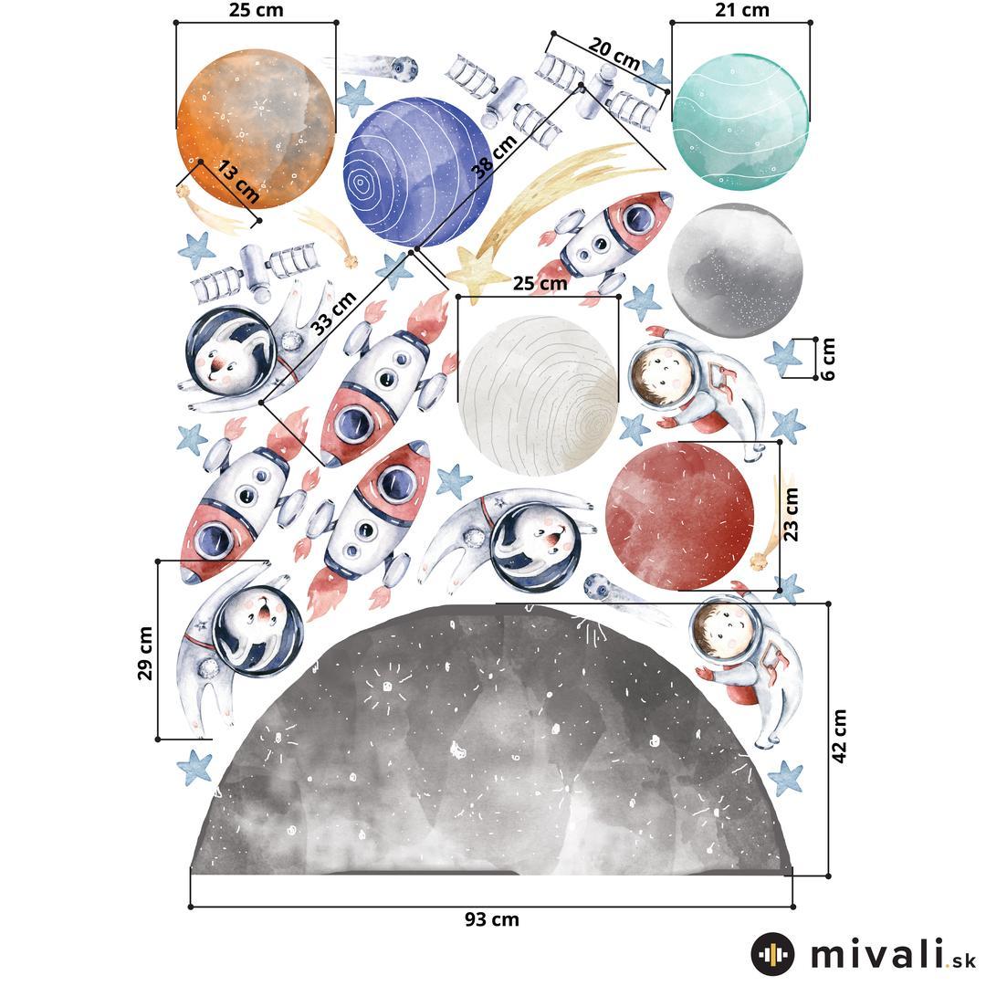 Samolepky na stenu - Vesmír (L080007)