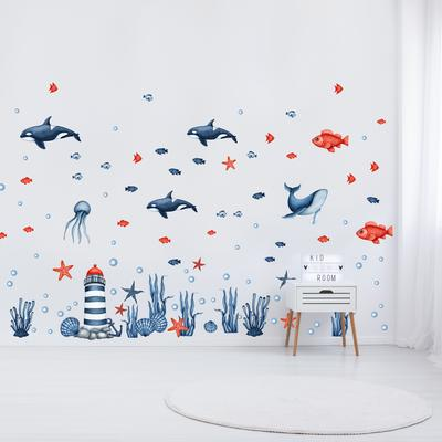Samolepky na stenu - Morský svet (L080009)