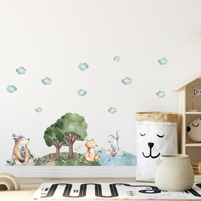 Samolepky na stenu - Medveď, líška a zajac (L080012)