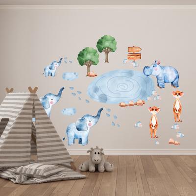 Samolepky na stenu - Africké zvieratá (L080018)