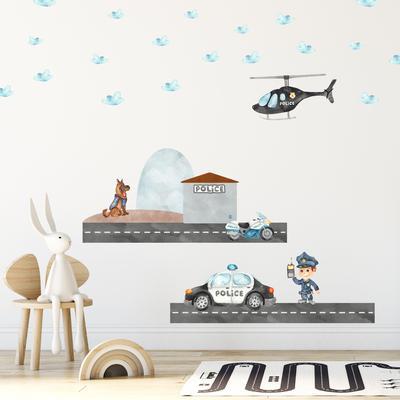 Samolepky na stenu - Policajná hliadka (L080020)