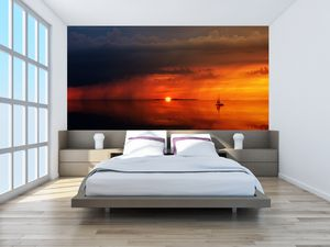 Fototapeta - Západ slunce s plachetnicí (T020084T200112)