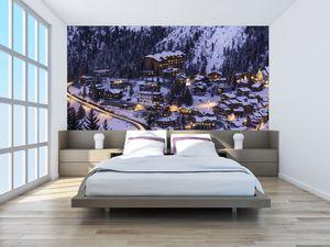 Fototapeta - Horské zimní městečko (T020600T200112)